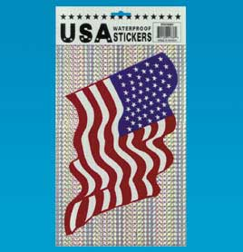 Large American Flag Stickers
