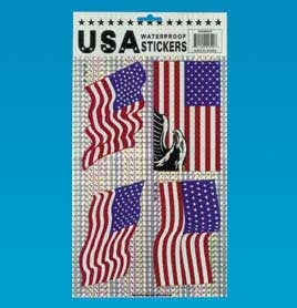 Closeout Patriotic United States Flag Stickers