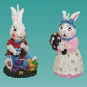 Closeout Easter Bunny Candle Set Is 1 piece