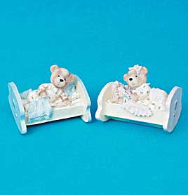 Closeout Item - Baby Bear Bassinet Figurine