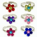 Adjustable Kids Rings - Flower Style