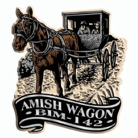 Custom Printed Refrigerator Magnets Amish Buggy