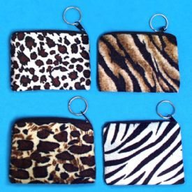 Animal Print Zipper Purses