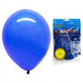 Latex Balloons Package 12 Blue 12""