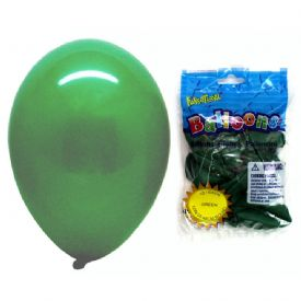 Latex Balloons Package 12 Green 12""