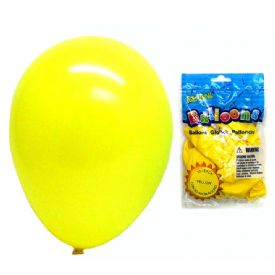 Latex Balloons Package 12 Yellow 12""