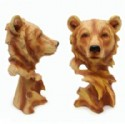 Bear Figurine Large Wood Look