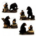 Black Bear Figurine With Water Globe