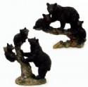 Black Bear And Cubs Figurines