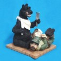 Black Bear Hunter Gift Figurine