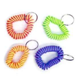 Coil Bracelet Keychains