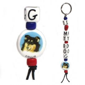 Closeout Collie Keychain