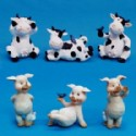 Cow And Pig Figurines