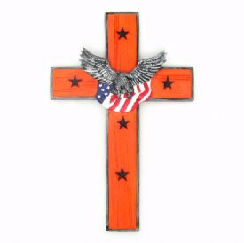 Cross With Eagle Wall Hanging