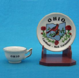 Ohio Souvenir Cup And Saucer Set Is 1 Piece