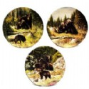 Decorative Plate With Bear Scene