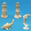 Dolphin And Lighthouse Figurines