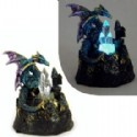 Dragon Figurine With Light Up Crystal