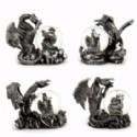 Dragon Figurines With Water Globe