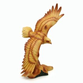 Eagle Figurine Wood Look