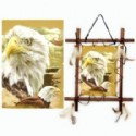 Wood Frame With Eagle Scene
