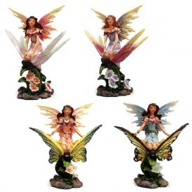 Fairy On Butterfly Figurines