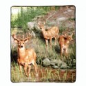 Fleece Blanket - Deer Scene