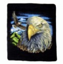 Fleece Blanket - Eagle Scene