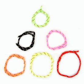 Girls Neon Adjustable Friendship Bracelet