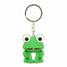 Frog Keychains With LED Light And Sound