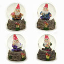Miniature Gnome Water Globes