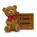 Grandma Gift Teddy Bear Plaque