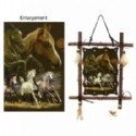 Wood Frame With Horse Scene