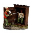 Hunter In Outhouse Figurine
