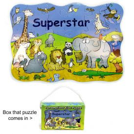 Closeout Kids Puzzle With Zoo Scene