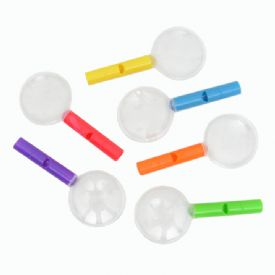 Mini Magnifying Glasses With Whistle