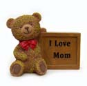 Mom Gift Teddy Bear Plaque