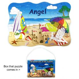 Closeout Kids Puzzle With Beach Scene