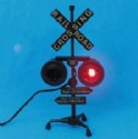 Railroad Crossing Sign Signal Flashing Light