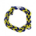 Closeout Rubber Band Chain Bracelet Blue - Yellow