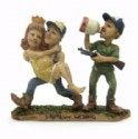 Moonshine Shot Gun Wedding Figurine
