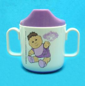 Sippy Cup With Cabage Patch Kids Design