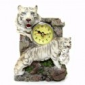 White Tiger Scene Clock