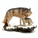 Wolf And Pup Figurine
