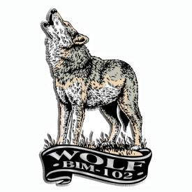 Custom Printed Refrigerator Magnets Wolf