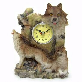Wolf Scene With Clock