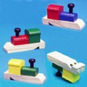 Wooden Train Shaped Whistles