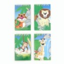 Spiral Notepad With Zoo Animals Scene
